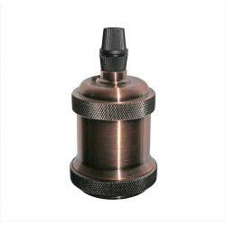 Διακοσμητικό ντουί Ε27 αντικέ ροζ αλουμινίου με σπείρωμα για ροδέλα τύπου M10(1/8'') Κωδ: 16-163664