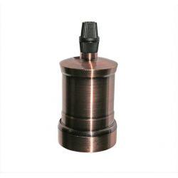 Διακοσμητικό ντουί Ε27 ρόζ-αντικέ αλουμινίου χωρίς σπείρωμα για ροδέλα τύπου M10(1/8'') Κωδ: 16-162664
