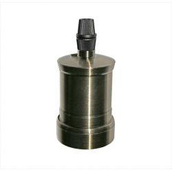Διακοσμητικό ντουί Ε27 μπρονζέ ρουστίκ αλουμινίου χωρίς σπείρωμα για ροδέλα τύπου M10(1/8'') Κωδ: 16-162665