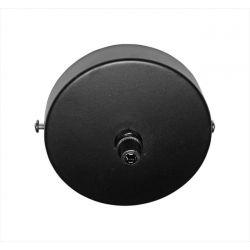 Διακοσμητική ροζέτα οροφής μαύρη αλουμινίου Φ10x2,5cm με γείωση & στυπιοθλήπτη Κωδ: 030-16621