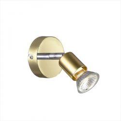 Φωτιστικό σπότ αλουμινίου γυαλιστό χρυσό-χρώμιο μονόφωτο για λαμπτήρες με ντουί gu10 230v Κωδικός : MC634PB1