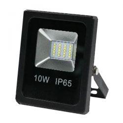 Προβολέας led slim 10W 230V ψυχρό λευκό 6000k 900lm με smd στεγανός IP65 Kωδ: FL-S-00010