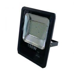 Προβολέας led slim 150W 230V θερμό λευκό 3000k 13500lm με smd στεγανός IP65 Kωδ: FL-S-00073
