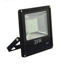 Προβολέας led slim 20W 230V θερμό λευκό 3000k 1800lm με smd στεγανός IP65 Kωδ: FL-S-00023