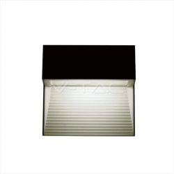 Απλίκα led αρχιτεκτονικού φωτισμού τετράγωνη με σκίαστρο μαύρη 3w 230v φυσικό λευκό 4000Κ 210lm ip65 Κωδ: 1399