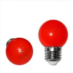 Λάμπα led adeleq σφαιρική g45 Ε27 2watt 230v κόκκινο χρώμα Κωδικός: 13-27022