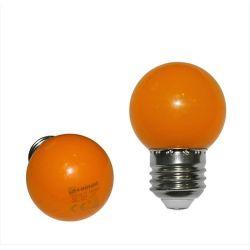 Λάμπα led adeleq σφαιρική g45 Ε27 2watt 230v πορτοκαλί χρώμα Κωδικός: 13-27023