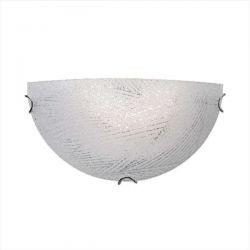 Φωτιστικό τοίχου απλίκα γυάλινη κρυσταλιζέ aca-decor μονόφωτη Ø 300mm & ντουί E27 Κωδικός : DL081302