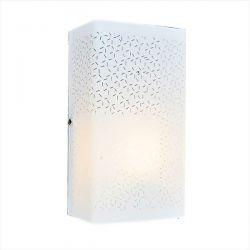 Φωτιστικό τοίχου απλίκα γυάλινη aca-decor μονόφωτη αμμοβολή Ø 130mm & ντουί E27 Κωδικός : DL0830RC