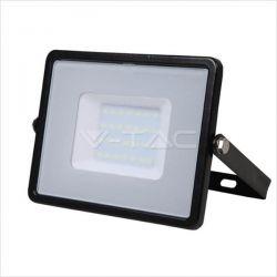 Προβολέας led v-tac με samsung chip 10w 230v μαύρο σώμα θερμό λευκό 3000Κ 800lm Κωδικός: 424