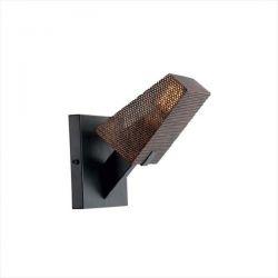 Φωτιστικό τοίχου απλίκα μονόφωτη μαύρο-χαλκός aca-decor 2018 195mm με ντουί ε27 Κωδικός : EG166121WBC
