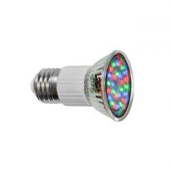 Λάμπα led E27 με 27 led 0.8watt 230v ac/dc  30° Πολλυχρωμη RGB