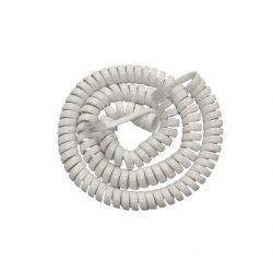 Καλώδιο ακουστικού τηλεφώνου σπιράλ 2 μέτρα λευκό