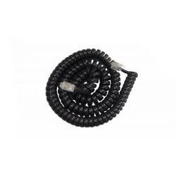 Καλώδιο ακουστικού τηλεφώνου σπιράλ 4 μέτρα μαύρο