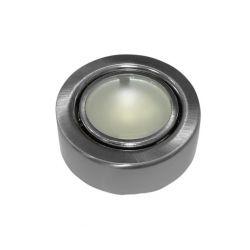 Φωτιστικό σπότ εξωτερικό μεταλλικό στρογγυλό σατινέ για λάμπες Led g4