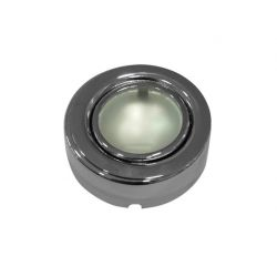 Φωτιστικό σπότ εξωτερικό μεταλλικό στρογγυλό χρώμιο για λάμπες Led g4