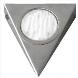 Φωτιστικό σπότ εξωτερικό τρίγωνο με διακόπτη σατινέ (ασημί μάτ) για λάμπες GΧ53 9W