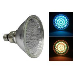 Λάμπα led par38 Ε27 με 120 led 3 watt 42v δέσμης 30° Πολύχρωμη RGB