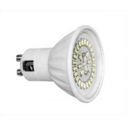 Λάμπα κεραμική GU10 με 30 led smd 3014 4watt 230V AC/DC ψυχρό λευκό 6000Κ