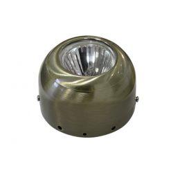 Φωτιστικό σπότ εξωτερικό μεταλλικό σταθερό στρογγυλό αντικέ για λάμπες led mr16 & gu10