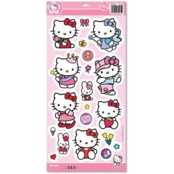 Aυτοκόλλητα τοίχου Hello Kitty σε ποικιλία. Διαστάσεις: 22x48εκ.