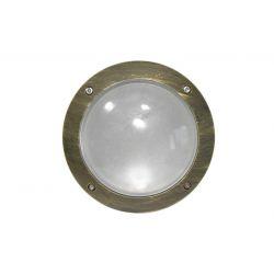 Φωτιστικό πλαφονιέρα αλουμινίου στρογγυλή ρουστίκ Ø 150mm στεγανή ip54 για λάμπες GX53