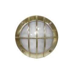 Φωτιστικό πλαφονιέρα αλουμινίου στρογγυλή αντικέ με πλέγμα Ø 150mm στεγανή ip54 για λάμπες GX53