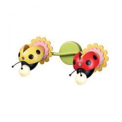 Φωτιστικό απλίκα δίφωτη πολύχρωμη μέλισσα aca-decor 2018 370mm με ντουί ε27 Κωδικός : ZN170162WRY