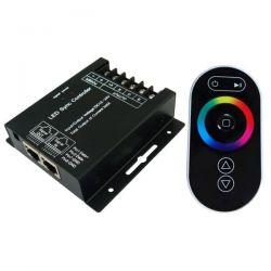 Ασύρματο dimmer αφής με τηλεχειριστήριο & δέκτη για ταινίες Led 12-24V RGB Κωδικός:  SMARTRGBF/SMARTRGBR