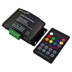 Controller RGB με τηλεχειριστήριο & μικρόφωνο 12VDC 144W & 24VDC 288W για ταινίες Led Κωδικός: RF18-AUDIO