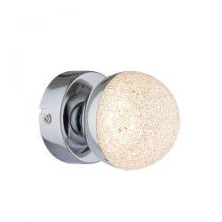 Απλίκα led aca-decor 2018 4w 230v σε χρώμιο-κρυσταλιζέ μεταλλικό 80mm Κωδικός: MC3001LEDA