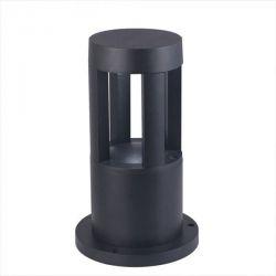 Κολωνάκι δαπέδου led v-tac μαύρο στεγανό ip65 10w/230v θερμό φώς 3000Κ 250mm  Κωδικός: 8322