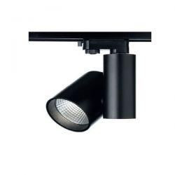 Μαύρο Σποτ Ράγας LED 30W 4 Καλωδίων Σε Ενδιάμεσο Λευκό Φώς (4000Κ) RONDE Aca Lighting Κωδ: RONDE3040B4