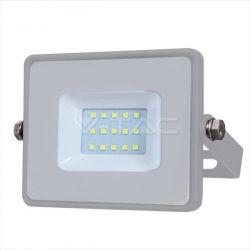 Προβολέας led v-tac με samsung chip 10w 230v γκρί σώμα ψυχρό λευκό 6400Κ 800lm Κωδικός: 432