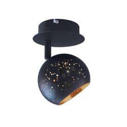 Σπότ οροφής aca-decor 2018 1φ σε απόχρωση μαύρο-ορείχαλκος με ντουί g9 100mm Κωδικός: GN761CBB