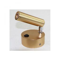 Απλίκα led aca-decor 2018 3w 230v σε απόχρωση σκούρο χρυσό 4000Κ 80mm Κωδικός: SF126BLED340G
