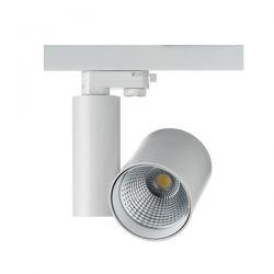Λευκό Σποτ Ράγας LED 30W 4 Καλωδίων Σε Ενδιάμεσο Λευκό Φώς (4000Κ) RONDE Aca Lighting Κωδ: RONDE3040W4