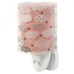 Βρεφικό φωτιστικό πρίζας για τη νύχτα με συννεφάκια σε ροζ αποχρώσεις και διακόπτη on/off Kώδ: 41415S