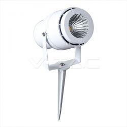 LED αδιάβροχο φωτιστικό καρφί 12v 230v ip65 θερμό λευκό 3000Κ με λευκό σώμα Κώδ:7547