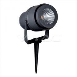 LED αδιάβροχο φωτιστικό καρφί 12v 230v ip65 πράσινος φωτισμός με γκρί σώμα Κώδ:7552
