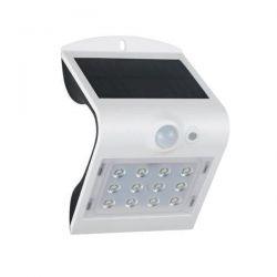 Λευκό Επιτοίχιο Ηλιακό Φωτιστικό 2W Με Αισθητήρα Κίνησης Σε Ενδιάμεσο Λευκό Φώς (4000K) Aca Lighting Papillon Κώδ: PAPILLON2W