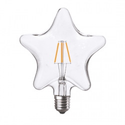 Λαμπτήρας σχήμα αστέρι LED diolamp Filament (WW 2700K) 6W E27 230V Dimmable Kώδ: STAR6WWDIM