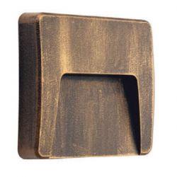 Led απλίκα σκουριά τετράγωνη με σκίαστρο slim πλαστική 3W 200Lm 3000k θερμό λευκό φως στεγανή ΙΡ65 Κώδ: SLIM42R