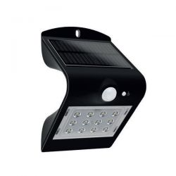 Μαύρο Επιτοίχιο Ηλιακό Φωτιστικό 2W Με Αισθητήρα Κίνησης Σε Ενδιάμεσο Λευκό Φώς (4000K) Aca Lighting Papillon Κώδ: PAPILLON2B