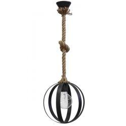 Μαύρο Μονόφωτο κρεμαστό Heronia Lama 1/L Rope UT-BL με ντουί ε27 Κωδ: 31-0944