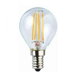 Λάμπα led filament σφαιρική P45 Ε14 4W 230V 2700k θερμό λευκό φως 440lumen Kώδ:  E14-00606