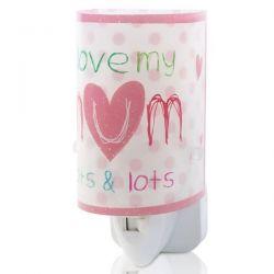 Βρεφικό φωτιστικό πρίζας για τη νύχτα πουά σε ροζ χρώμα Κώδ:  92811