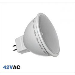 Λάμπα MR16 Led 5W 42V AC Σειρά Economy Με 5Led SMD chip 2836 Δέσμη 105° Θερμό Φως 3000k 450 Lumen Κωδικός:13-1642500
