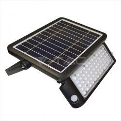 Προβολέας LED v-tac ηλιακός 5W Φυσικό λευκό 4000K Μαύρο σώμα με ανιχνευτή Κωδικός: 8547