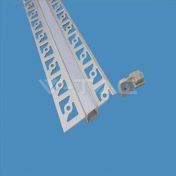 Προφίλ αλουμινίου v-tac για ταινίες LED γυψοσανίδας στενό 2m Κωδικός: 3360